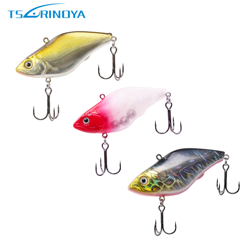 Tsurinoya 1 Piece DW22 Fishing Lure VIB 70mm 18g Sea Fishing Wobbler Vibration Lipless Crank Bait 8 Color Available