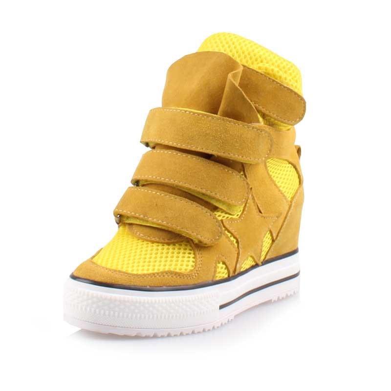 yellow La Alto Cuñas Aumento black Altos Cuero Pink 2017 Casuales blue Cómodo white Moda Split Zapatos Nueva De gray Respirable red Tacones Altura Botas Ocultos qnt6Bw