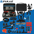 PULUZ 53 in 1 Go Pro Accessories Combo Kit EVA Case selfie stick tripod Adapters Straps for GoPro HERO5 HERO 5 / 4 Session /4/3+