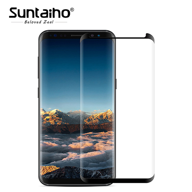 Suntaiho Tempered Glass For Samsung Galaxy S8 3D 9H Screen Protector Protective Film For Samsung Galaxy S8 Plus Case Friendly