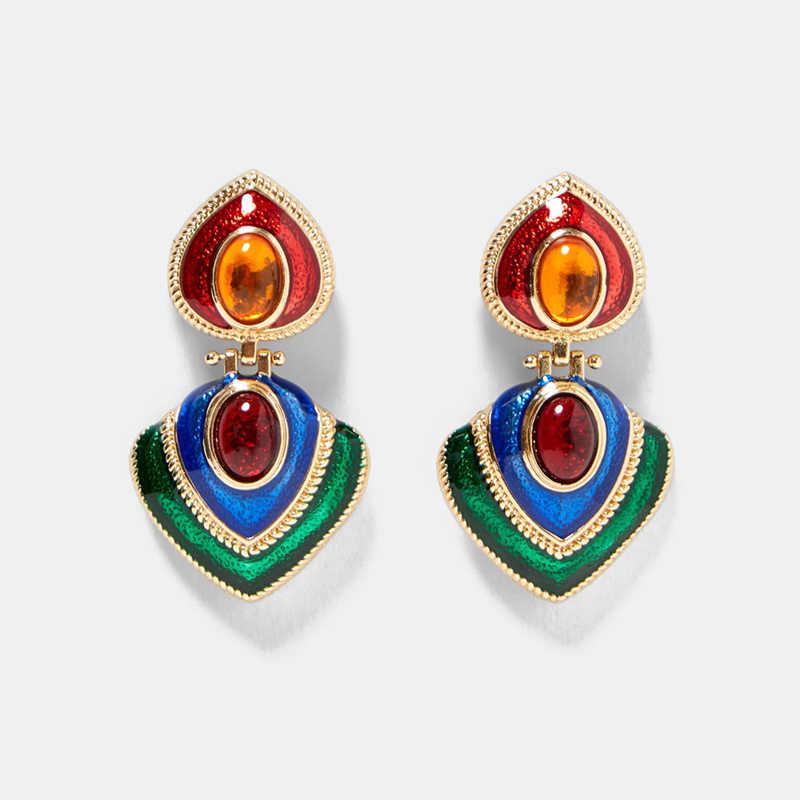 aee1ffe9cac ... Miwens Za 32 Designs Metal Resin Crystal Drop Earring Women Geometric  Boho Trendy Dangle Earring Wholesale ...
