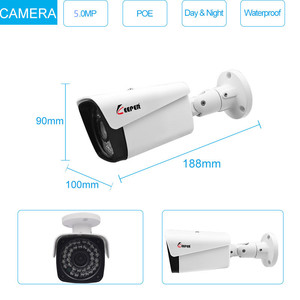 Image 2 - Keeper H.265 8CH 5MP POE camera system kit with Audio Record IP Camera IR Outdoor Waterproof CCTV Video Surveillance NVR Set