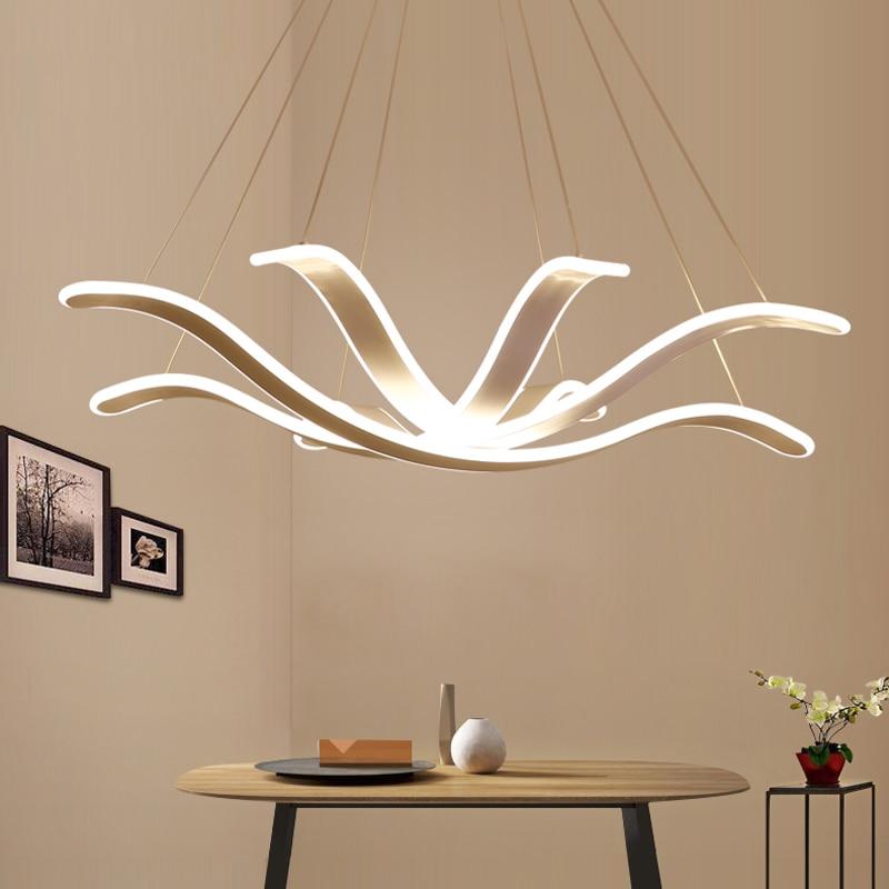 где купить Chandelier Lighting Lustre Led Lamp Modern Hanging Light Fixture Aluminium Ceiling Plate Remote Control Chandeliers Living Room по лучшей цене