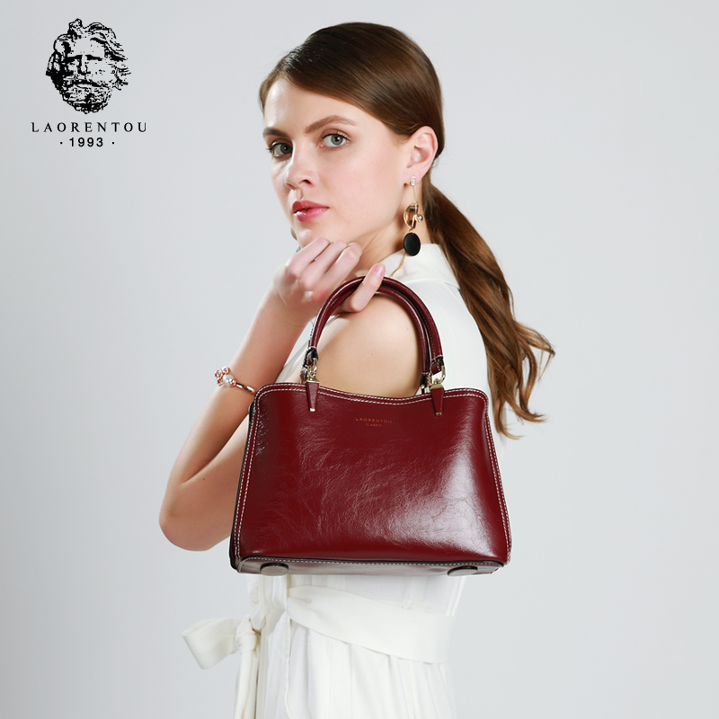 Laorentou Brand Female Solid Vintage Casual Tote & Handbag Women Split Leather Classy Shoulder Bags Chic Crossbody Bag for LadyLaorentou Brand Female Solid Vintage Casual Tote & Handbag Women Split Leather Classy Shoulder Bags Chic Crossbody Bag for Lady