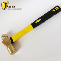 0.91kg/2lb Ball Pein Hammer, Brass Hammer with Plastic Handle, Safety Hand tools