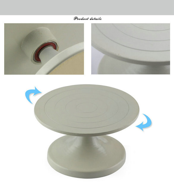 150X85MM DIY Clay Sculpture Pottery Swivel Plate Steel Forged Turntable Turnplate With Quiet Solid Smooth Bearing