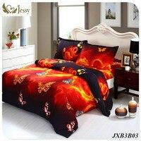 3D Bedding Luxury Bed Linen Red Rose Nice Bedclothes Romantic Print Flower Bedspread Duvet Cover Set Queen King 4pcs
