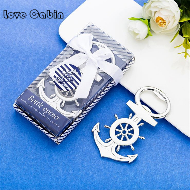 Unique Aeneous Anchor Shaped Beer Bottle Opener Creative Gift for Wedding Birthday Wine Opener Cooking Tools