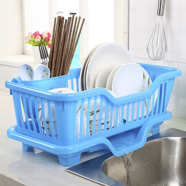 Kitchen Utensils Dishes Plastic Drain Storage Rack Creative Home Place Type Tableware Spoon Storage Basket Kitchen Storage Tools