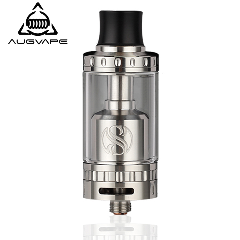 Augvape Merlin RTA Tank Atomizer 23mm 4ML Single Coil Deck Dual Airflow Vape Vaporizer Electronic Cigarette Atomizer Tank