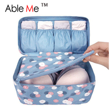 New 2017 High Capacity Bra Underwear Storage Bags Travel Makeup Organizer  Necessaire Pochette Maquillage Women Cosmetic Bags