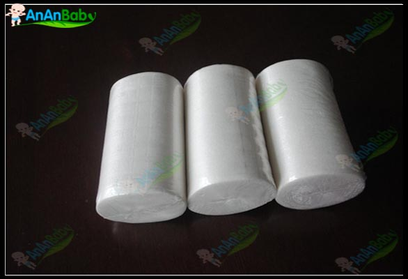 2014 New AnAnbaby 8 Rolls Flushable Disposable Bamboo Nappy Liners , 100 sheets/roll Free shipping