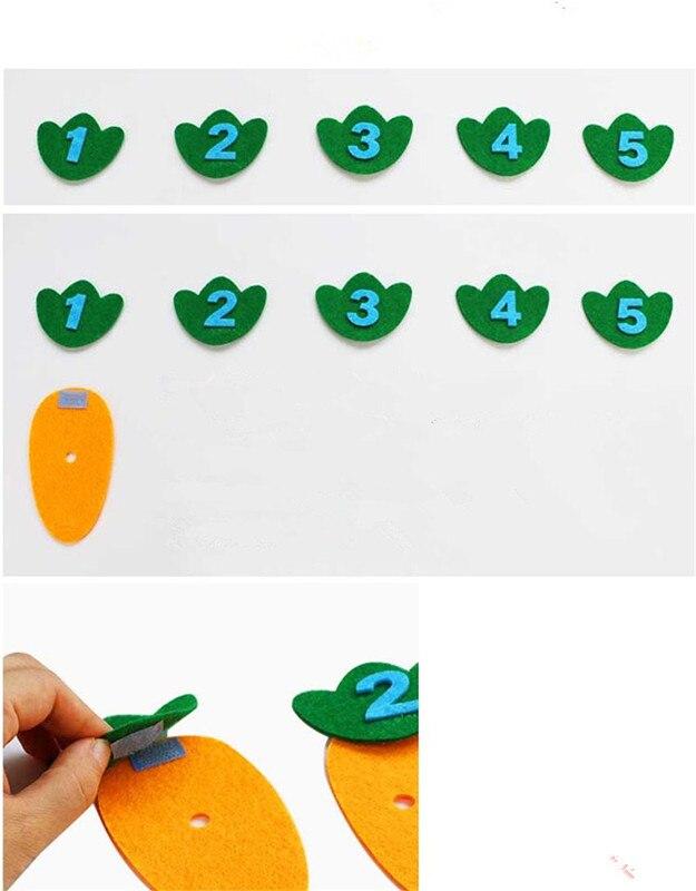 Keçe Havuç Puan Sayısı Eşleştirme Oyunu Anaokulu Montessori öğretim