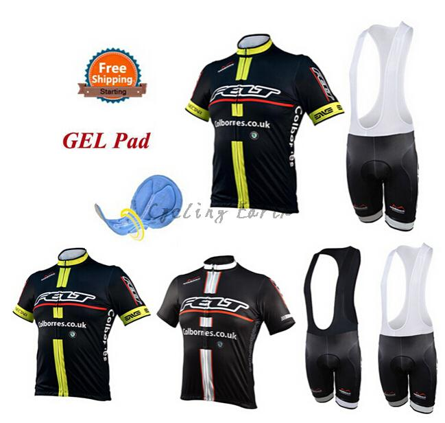Breathable! Pro HQ 2015 #2 short sleeve cycling jersey bib shorts set bike bicycle clothes jersey pants,gel pad,Quick-dry!