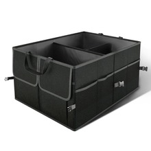 Car Accessories Trunk Organizer Box Collapsible Black Toy Food Storage Bag Protable Container Reserve for Cars SUV