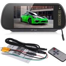 7 TFT LCD Color Screen Car Reverse Rear View Backup Camera Mirror Monitor 480RGBx234