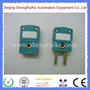 Image 3 - Mini Thermocouple Connector K  OMEGA type Green Color Flat pin Male and Female