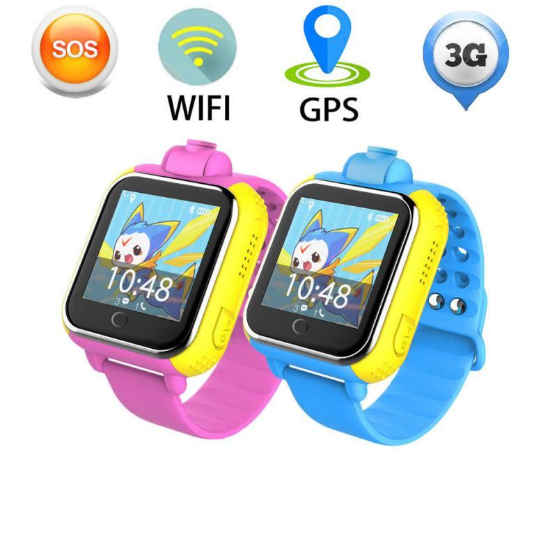 """מזגנים 3G Smart שעונים מצלמה מרחוק GPS LBS WIFI מיקום שילדים צופים GPS 1.54 """""""" מסך מגע חכם Tracker SOS עבור טלפון אנדרואיד IOS (1)"""