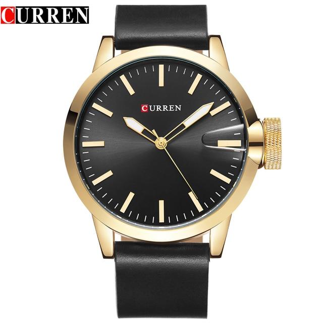 8a4c6bbe86c Homens relógio curren marca de luxo moda casual dos homens mostrador azul Mens  Relógios Top Marca
