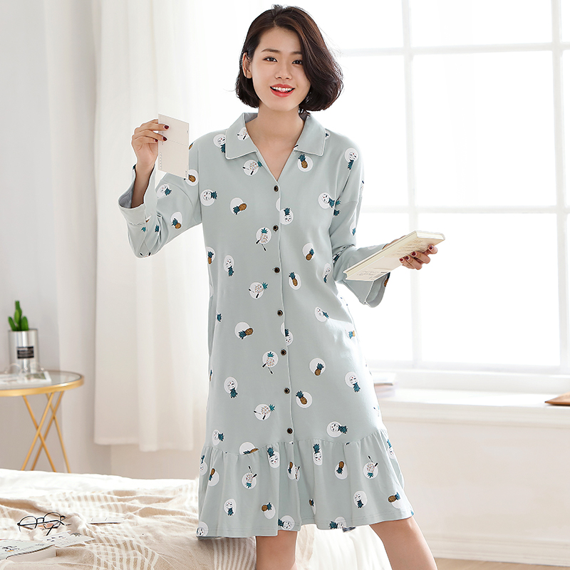 Brand New 100% Cotton Women's   Nightgown   Lounge Nightdress Femme Sleepwear Casual Girls Nightwear Loose   Nightgowns     Sleepshirts