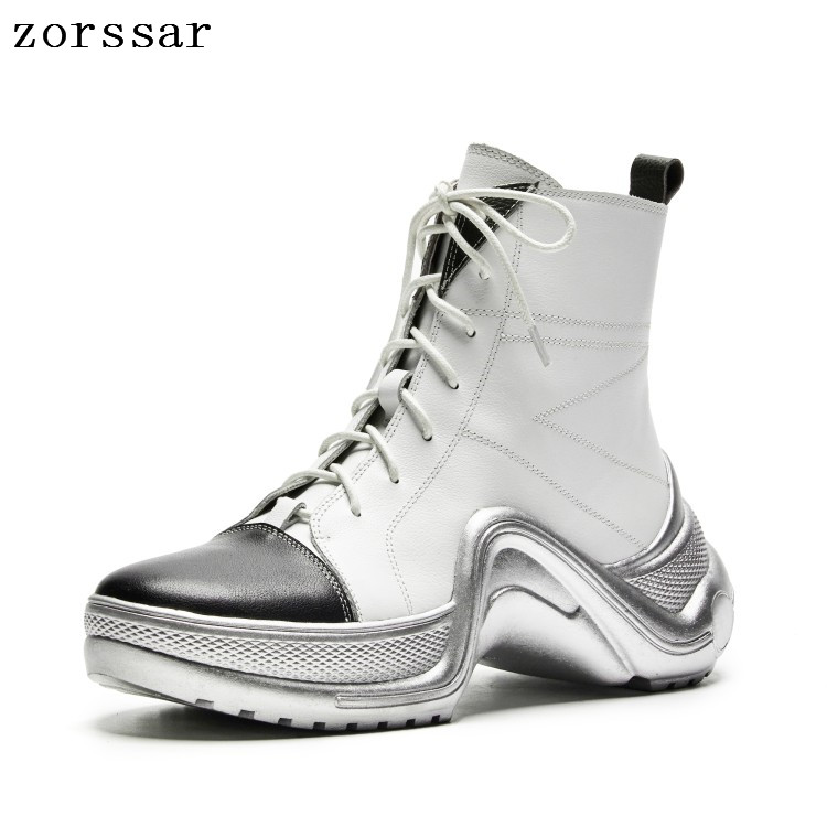 {Zorssar} fashion sneakers women boots 2018 Autumn winter ladies shoes Real leather platform ankle boots casual women flat shoes{Zorssar} fashion sneakers women boots 2018 Autumn winter ladies shoes Real leather platform ankle boots casual women flat shoes