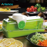 Multifunctional Vegetable Slicer Mandoline Spiralizer Peeler Cheese Grater With Food Pusher Protector Professional Kitchen Tools