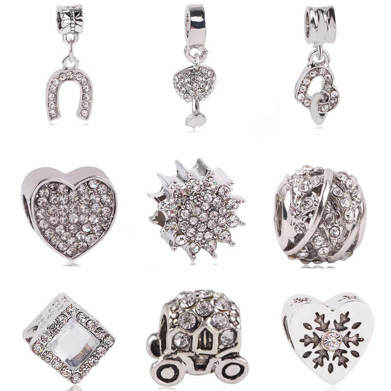 Ranqin Original Fashion European Classic Car Bead Leaf Beads Cat Pendant Fit Pandora Charms Bracelets  DIY Pandora Jewerly