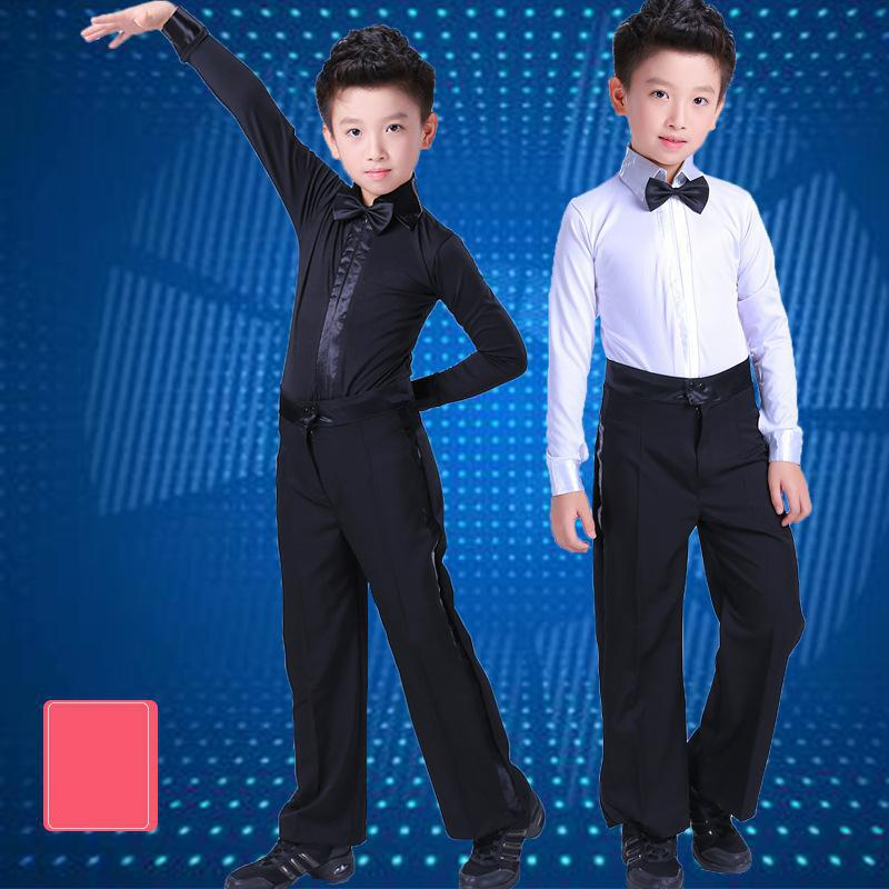 Boys Professional Latin Dance Costumes Shirt Pants For Kids Competition Shows Salsa Ballroom Dancing Clothes Wear Outfits