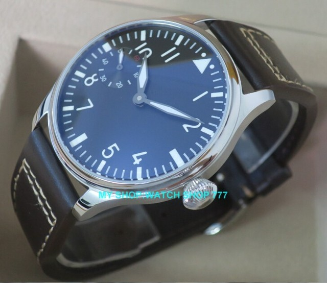 2016 new fashion 44mm PARNIS pilot 6497 Mechanical Hand Wind movement men's watc
