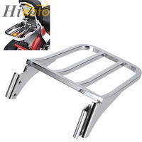 Chrome Motorcycle Sissy Bar Backrest Luggage Rack Rear Carrier For Harley Sportster XL 1200 883 Dyna Heritage Softail FLST