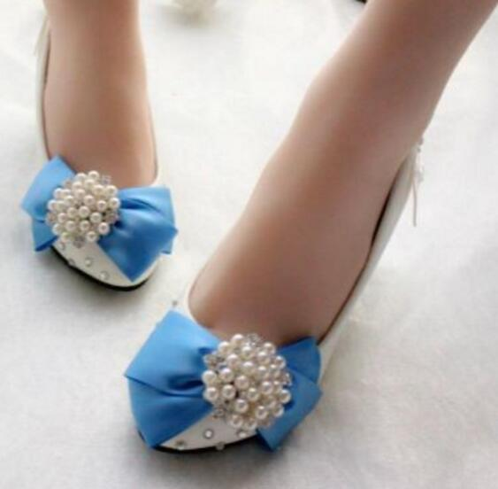 Blue butterfly-knot pumps shoes women round toes satin riband handmade  bowtie rhinestones luxury brides shoes bridal shoes blue 1e6fd08f10a8