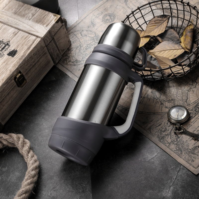 HTB1RuuyaorrK1RkSne1q6ArVVXak Keelorn Vacuum Flasks Thermoses Stainless Steel 1.2L 1L Big Size Outdoor Travel Cup Thermos Bottle Thermal Coffee Thermoses Cup