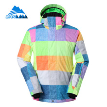 Cikrilan New Windbreaker Anti-abrasion Snowboard Ski Jacket Men Outdoor Sport Chaquetas Hombre Nieve Water Resistant Padded Coat