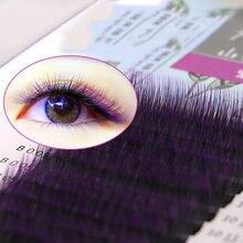 Омбре цвет фиолетовый синий градиент Радужный цвет индивидуальные ресницы 0,05 наращивание ресниц Премиум Мягкая норка ресницы