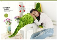 stuffed animal green crocodile plush toy about 100cm crocodile doll throw pillow c7748