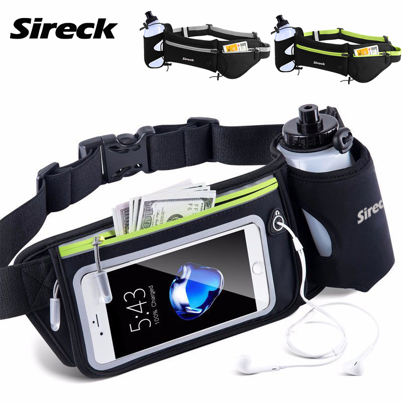 Sireck Running Waist Bag Men Women Sport Running Bag Hydration Belt Waterproof Gym Fitness Trail Run Bag Sports Accessories