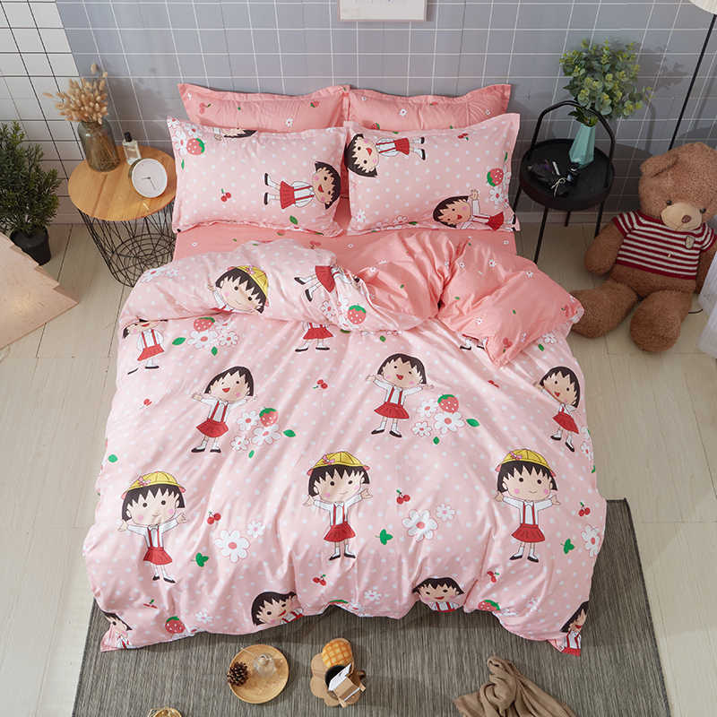 Cherry Pellets Anese Anime Bedding Sets Duvet Cover Bed Linen Pillow Cases Comfortable Sheets Twin