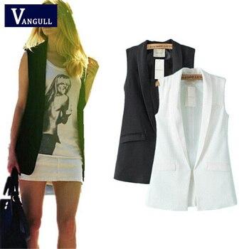 Women vest Fashion Wardrobe waistcoat Slim cotton vest 2018 Decoration Vests Female Sleeveless Waistcoat office lady pocket coat