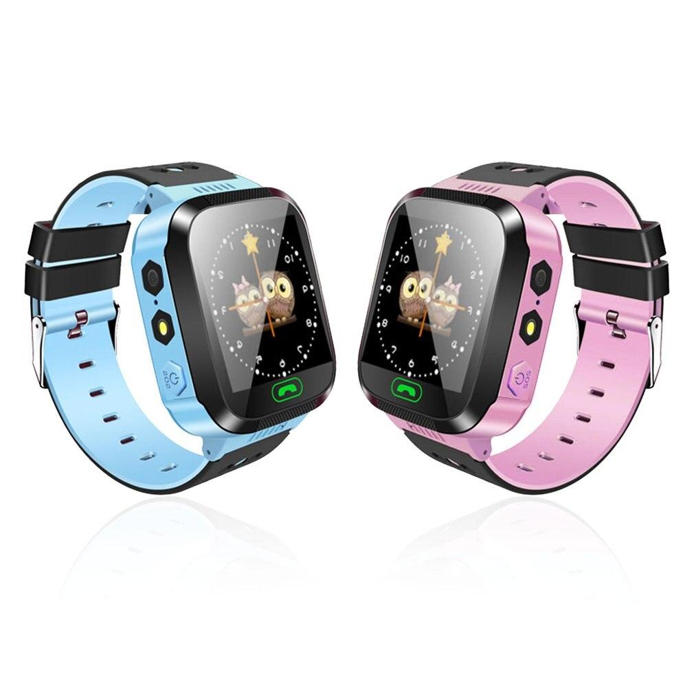 Y03/m05 crianças gps relógio inteligente crianças sos chamada localização rastreador relógio de pulso anti-perdido bebê seguro guarda inglês línguas