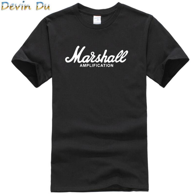 2017 Hot Sale Summer 100% Cotton Marshall T Shirt Men Short Sleeves Tee Hip Hop Streetwear For Fans Hipster XS-2XL