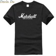 13bae67a58b 2017 hot sale summer 100% cotton Marshall t shirt men short sleeves tee hip  hop