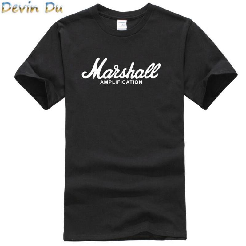 2017 hot sale summer 100% cotton Marshall t shirt men short sleeves tee hip hop streetwear for fans hipster XS-2XL