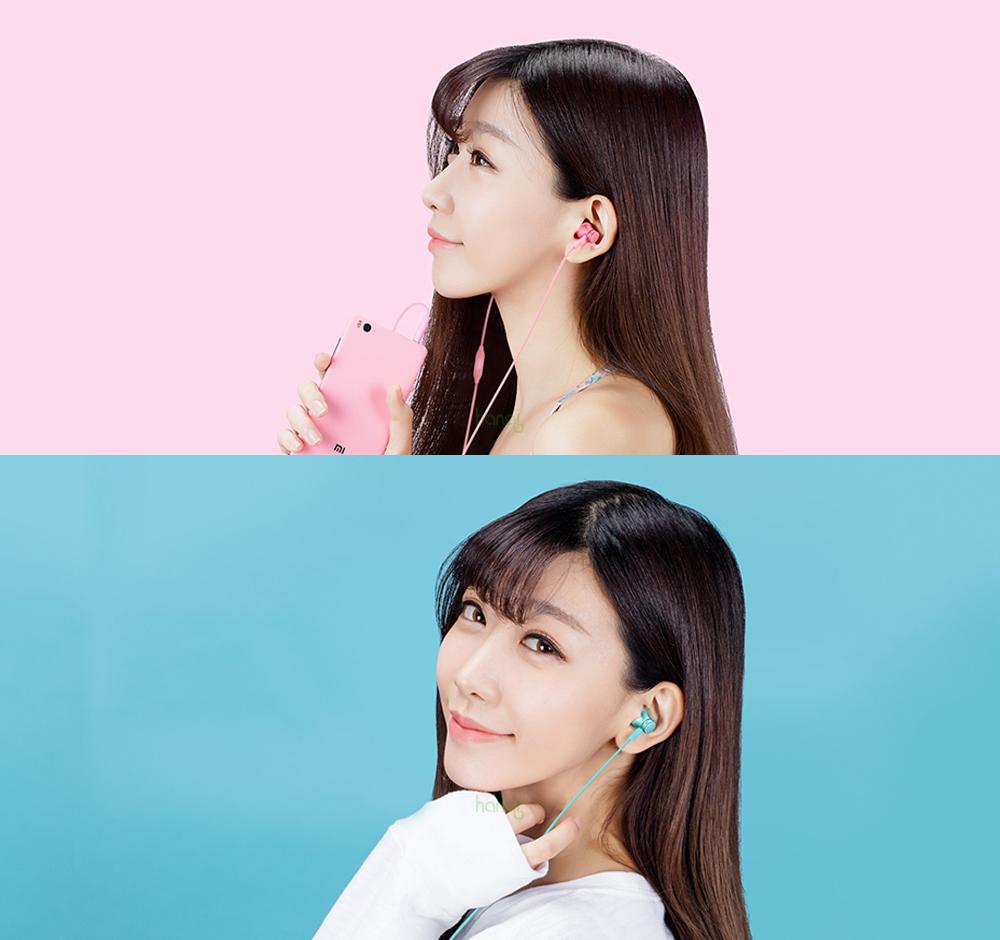 100% Original Xiaomi Earphone In -ear Earphones Piston Fresh Version colorful Earphones with Mic For Mobile Phone MP4 MP3 PC 6