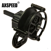 Black Aluminum Alloy Transmission Case Gear Box Steel Gears For Wraith 90018 90020 90031 RC Crawlers Car GearBox