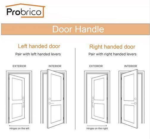 Probrico Stainless Steel Entrance/Privcy/Passage Door Lock Brushed Nickel Door Knob Door Handle DL12061SN