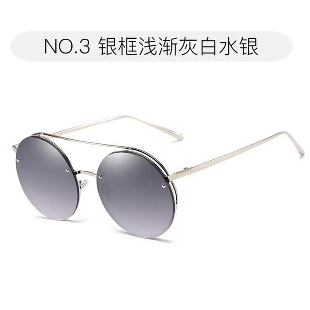 2019 New Fashion Popular Retro Big Round Sunglasses Men Women Metal Frame Eye pink black Vintage Tiny Female Sun Glasses