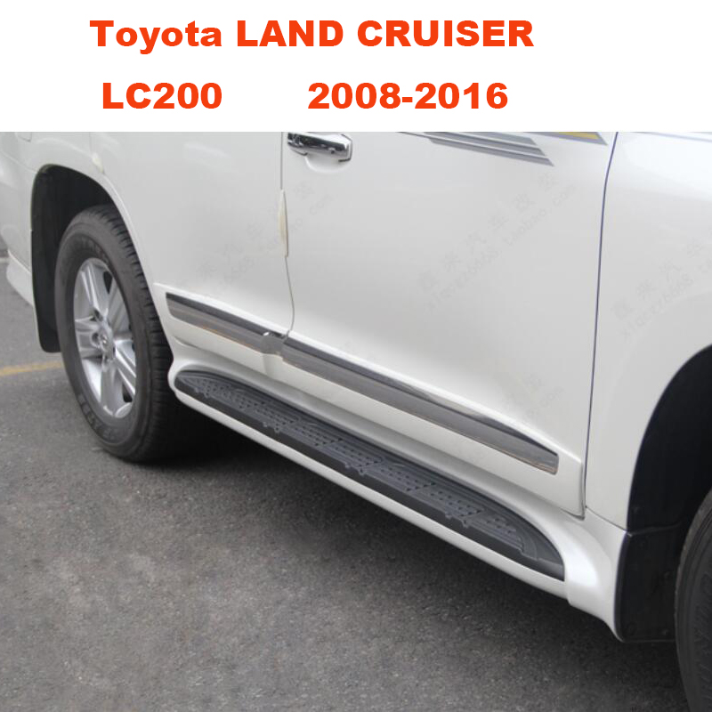 Car Running Boards Side Step Bar Pedals Nerf Bars For Toyota LAND CRUISER LC200 2008.2009.2010.2011.2012.2013.2014.2015.2016