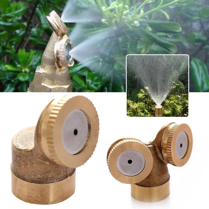 2 Nozzles 1 Nozzle Garden Watering Spray Nozzle Brass Misting Nozzles Garden Flower Lawn Impulse Sprinkler Water Irrigation Tool
