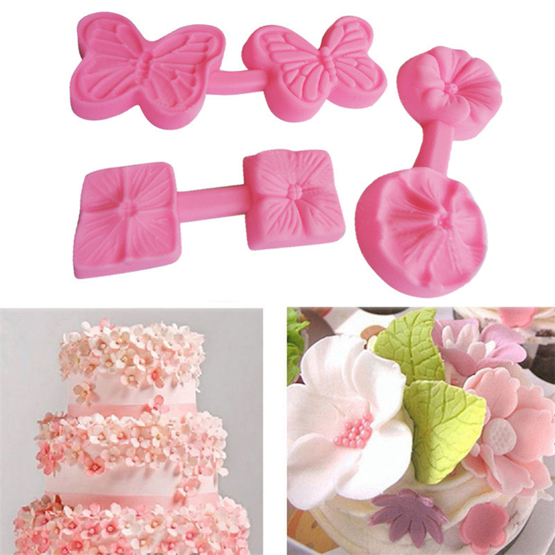New Silicone 3D Flower shape Fondant Cake Chocolate Sugar Mould Mold Tools Dropshipping #4D21