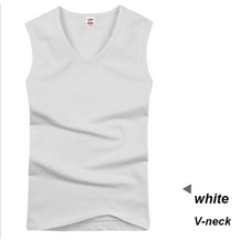 Cotton Big Size Summer men clothing Tank Tops Black White Gray Singlets